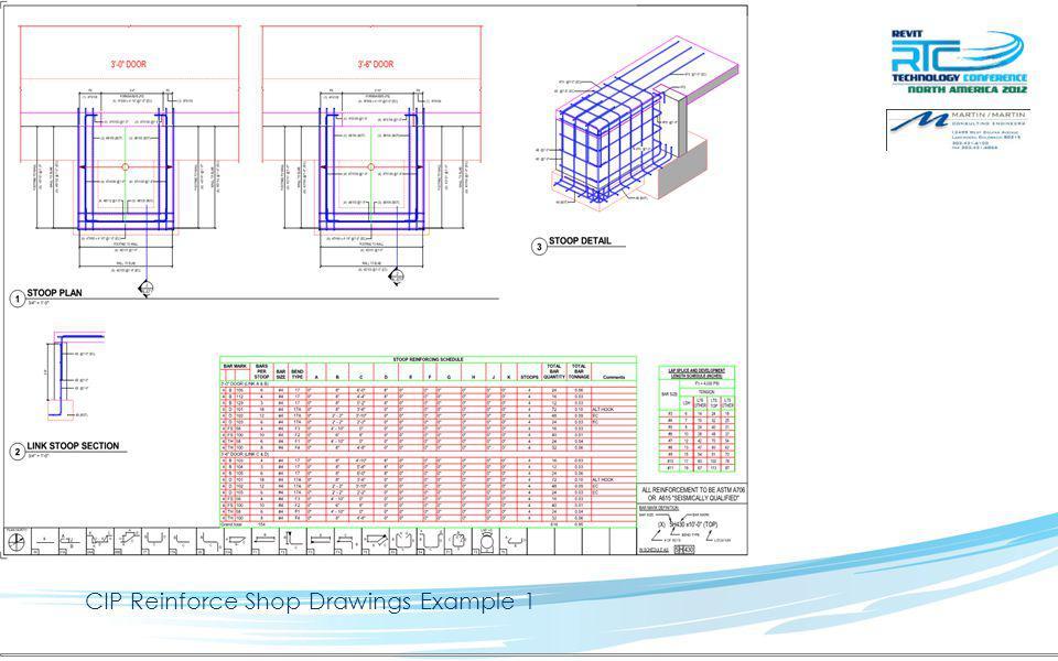 CIP Reinforce Shop Drawings Example 2
