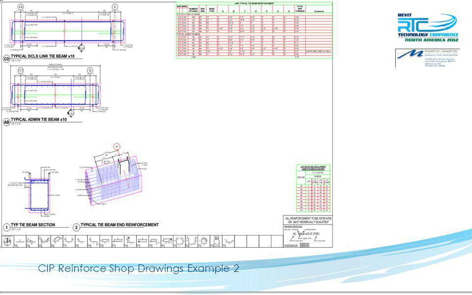 CIP Reinforce Shop Drawings Example 2