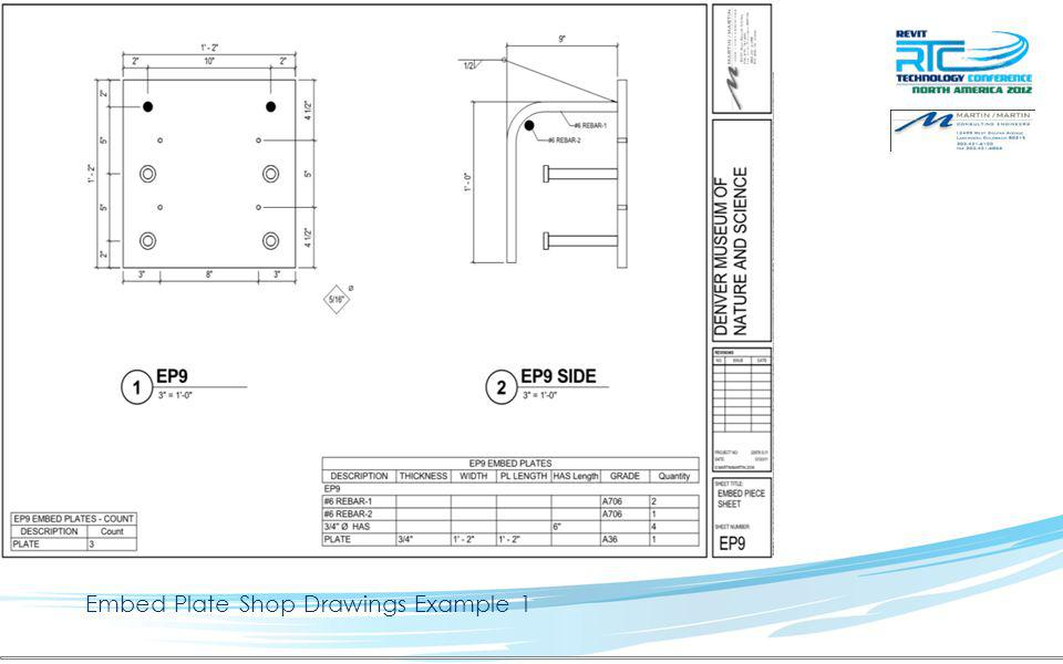 Embed Plate Shop Drawings Example 2