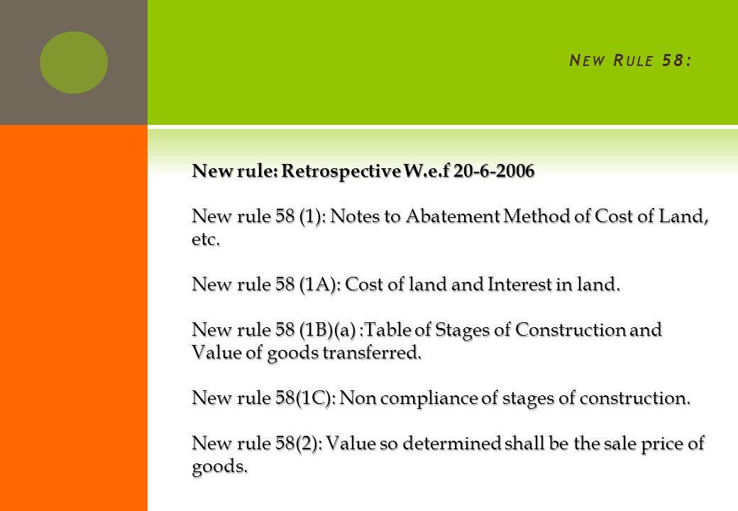 I MPACT : NEW RULE 58 INTRODUCED ON 29 TH J AN 2014 W. E. F 20-6-2006.