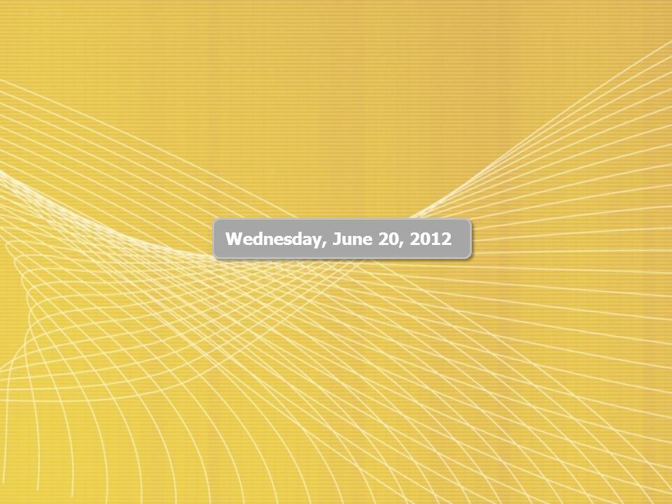 Wednesday, June 20, 2012