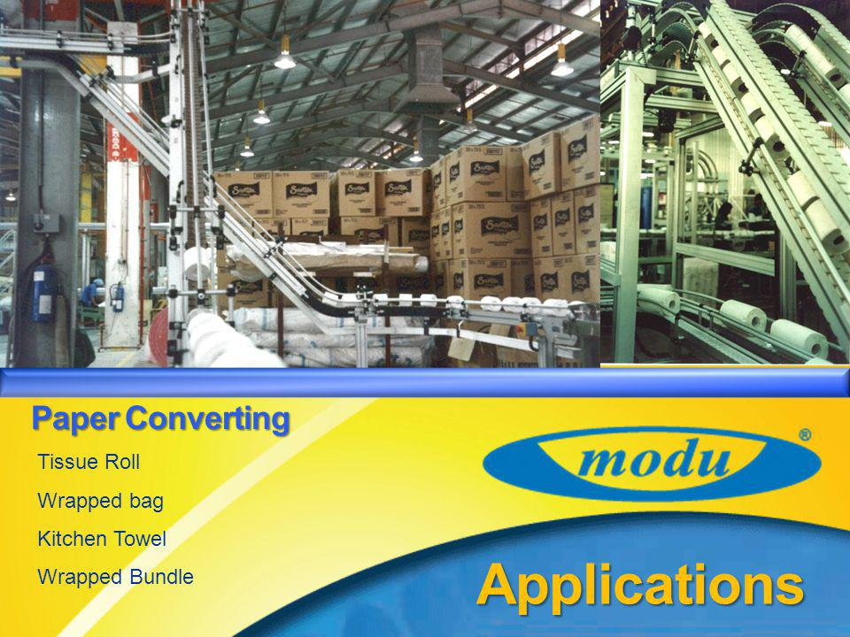 MODU System – Product Introduction Paper Converting Paper Converting Applications Tissue Roll Wrapped bag Kitchen Towel Wrapped Bundle