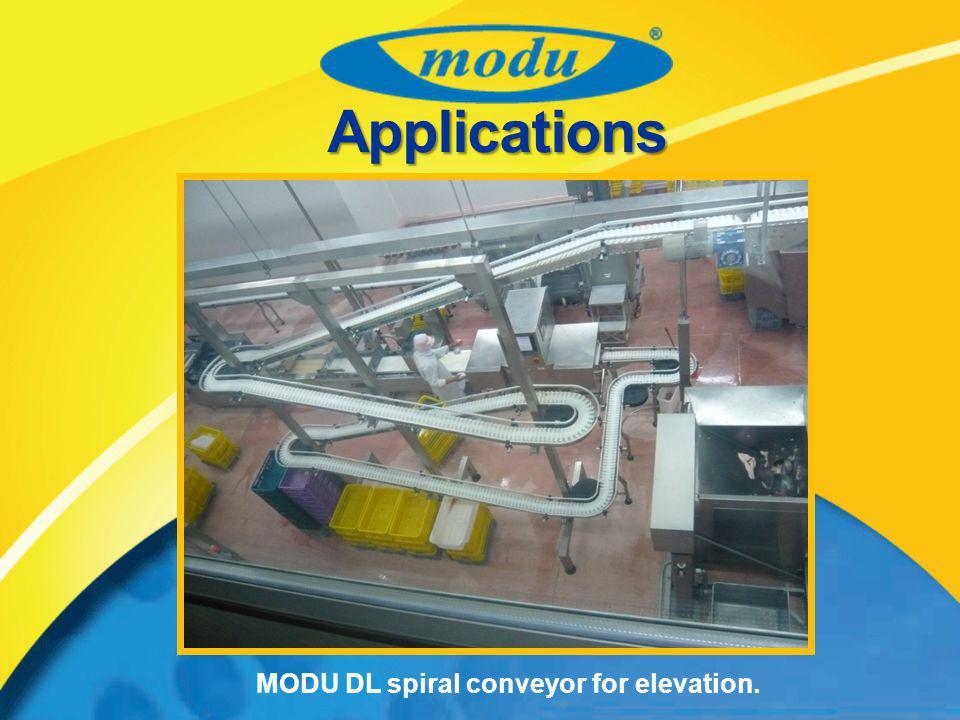 MODU DL spiral conveyor for elevation. Applications
