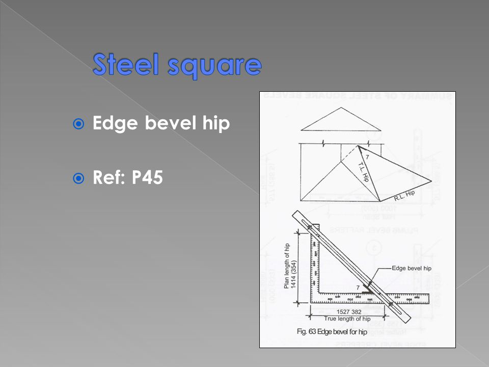 Edge bevel hip Ref: P45