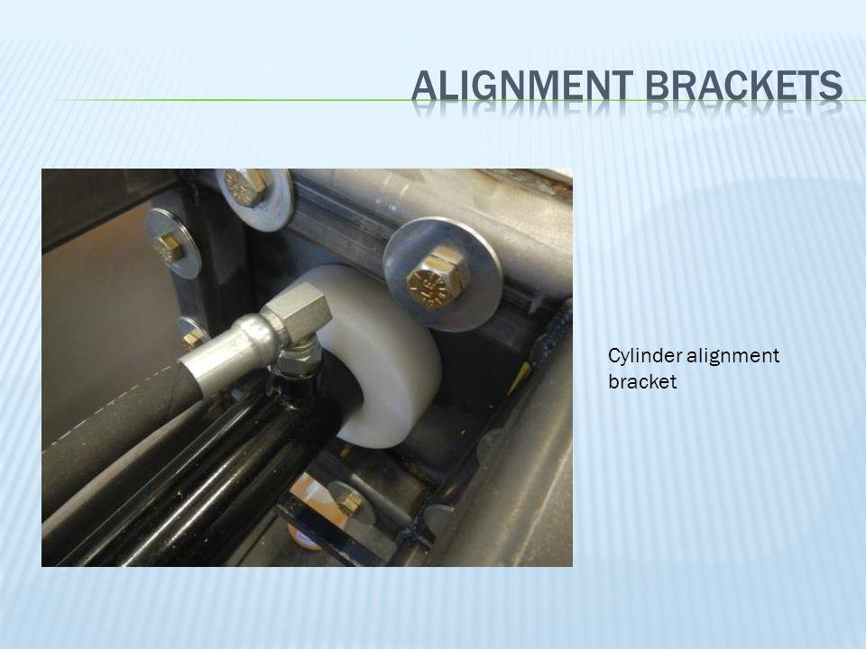 Cylinder alignment bracket