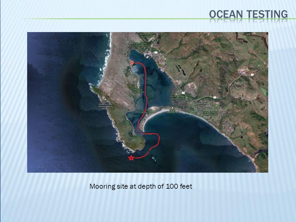 Mooring site at depth of 100 feet