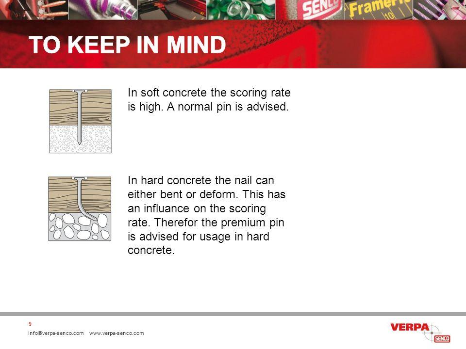 info@verpa-senco.com www.verpa-senco.com 20 Metal(stud) on steel