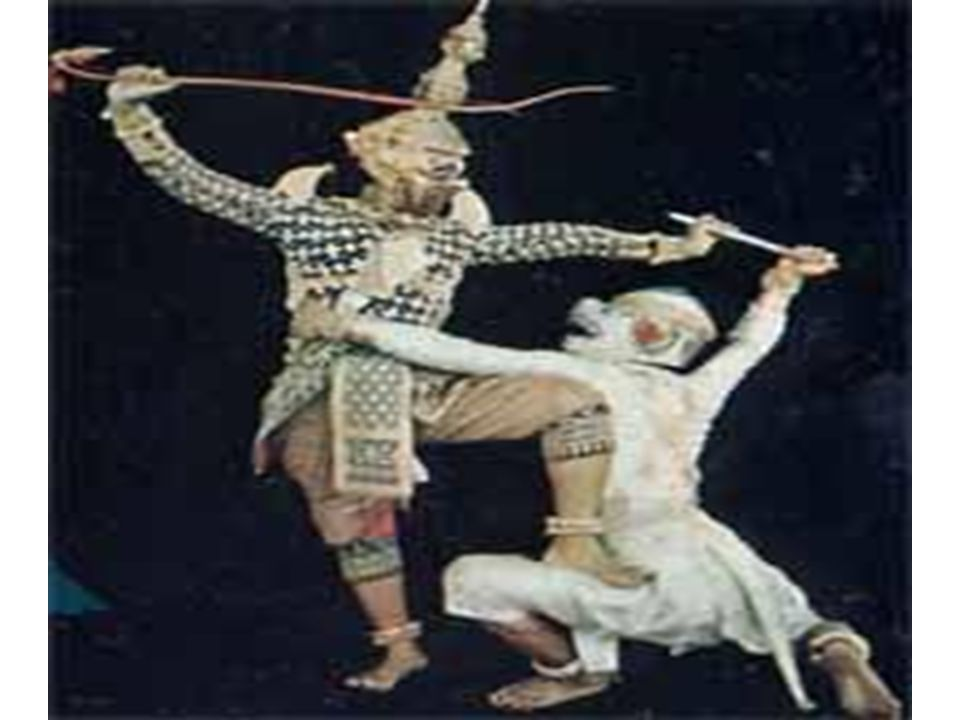 Battle Dance (Battle with Ravana) Hanuman s soldier trains for their battle with Ravana The Ramayana was written about 2,000 years ago.