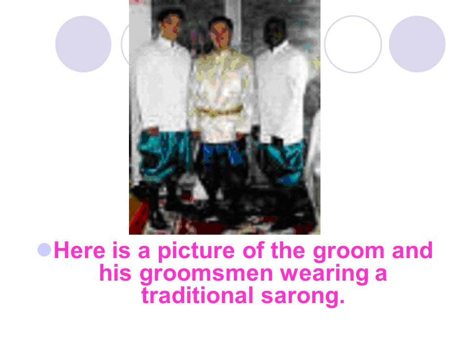 Wedding attire Cambodian weddings are colorful events.