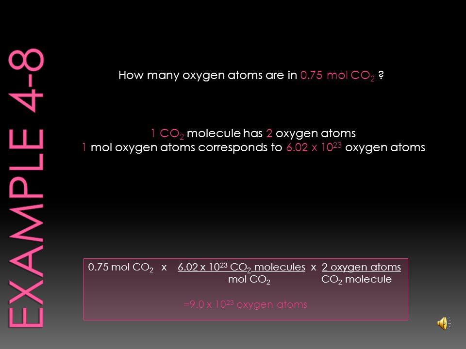 26g Carbon x 1 mol Carbon 12.0g Carbon = 2.2 mol Carbon How many moles of carbon are in 26g of carbon.