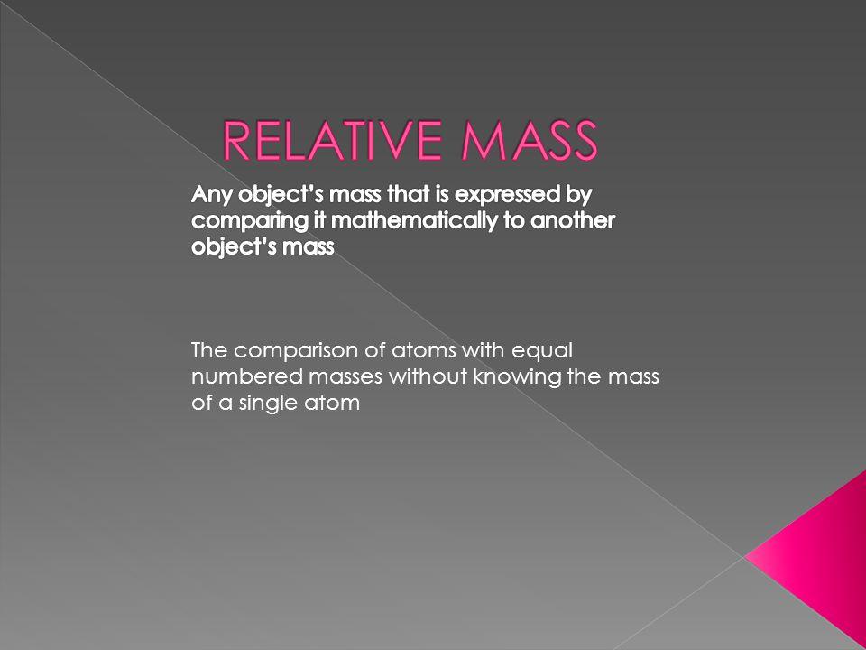 CONTENTS Relative Mass Atomic Mass The Mole Molar Mass