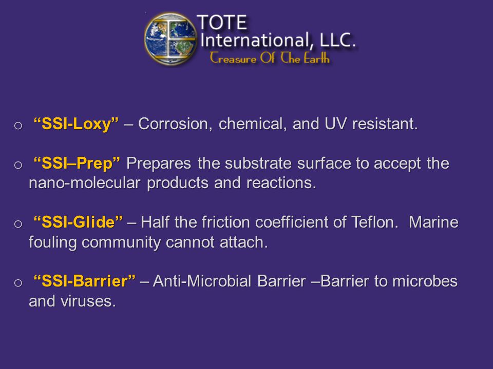 o SSI-Loxy – Corrosion, chemical, and UV resistant.