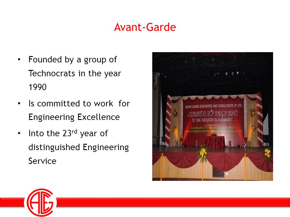 Avant-Garde Founded by a group of Technocrats in the year 1990 Is committed to work for Engineering Excellence Into the 23 rd year of distinguished En