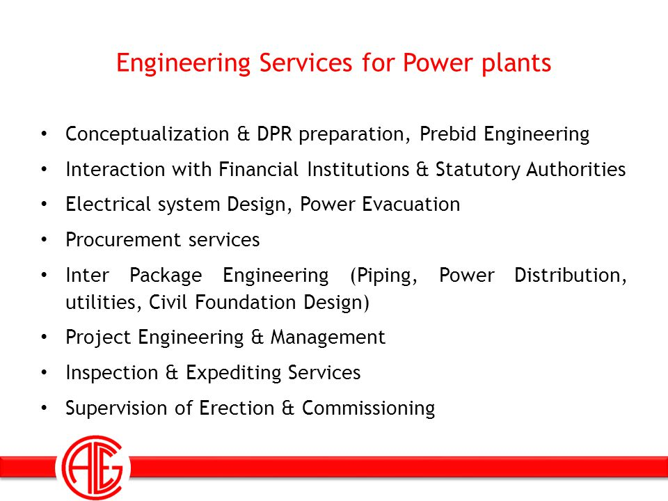 Engineering Services for Power plants Conceptualization & DPR preparation, Prebid Engineering Interaction with Financial Institutions & Statutory Auth
