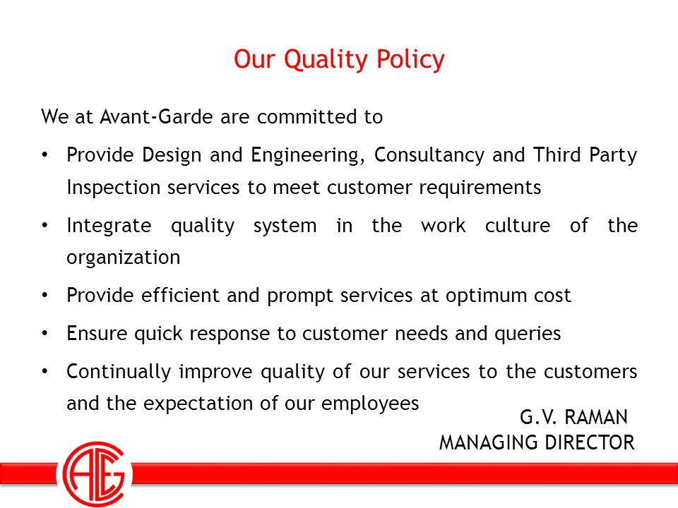 Quality Assurance and Approval ISO 9001 : 2008 ISO 17020 : 1998