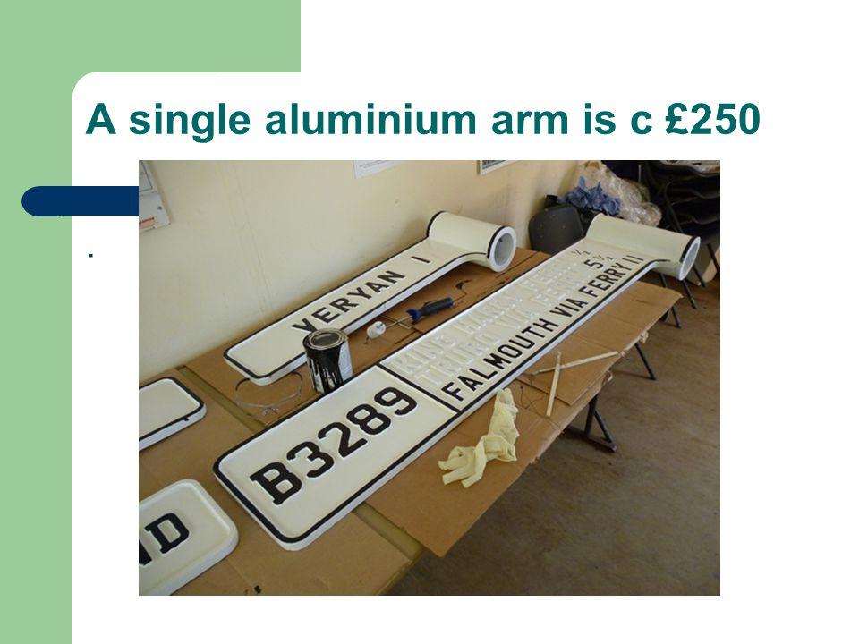 A single aluminium arm is c £250.