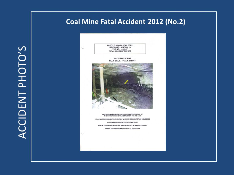 Coal Mine Fatal Accident 2012 (No.2) ACCIDENT PHOTOS