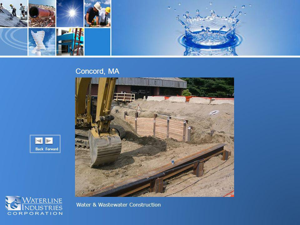 Water & Wastewater Construction Concord, MA Back Forward