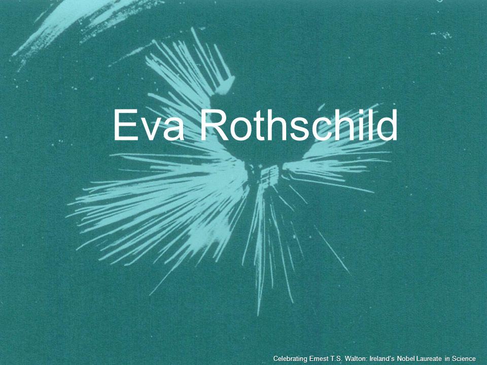 Eva Rothschild Celebrating Ernest T.S. Walton: Irelands Nobel Laureate in Science