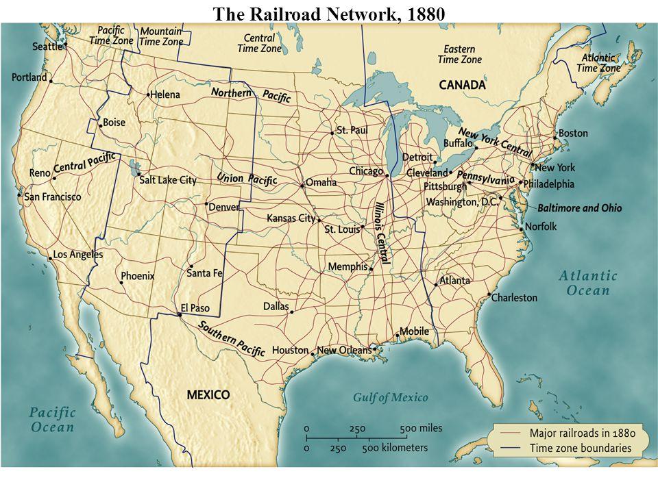 The Railroad Network, 1880 pg. 596 The Railroad Network, 1880