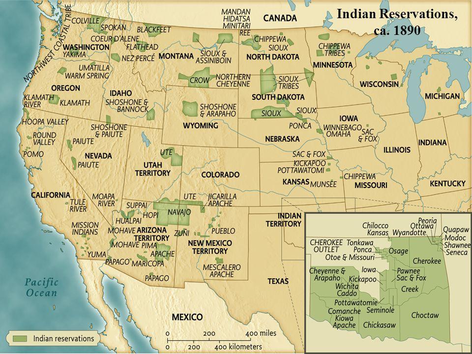 Indian Reservations, ca. 1890 pg. 611 Indian Reservations, ca. 1890