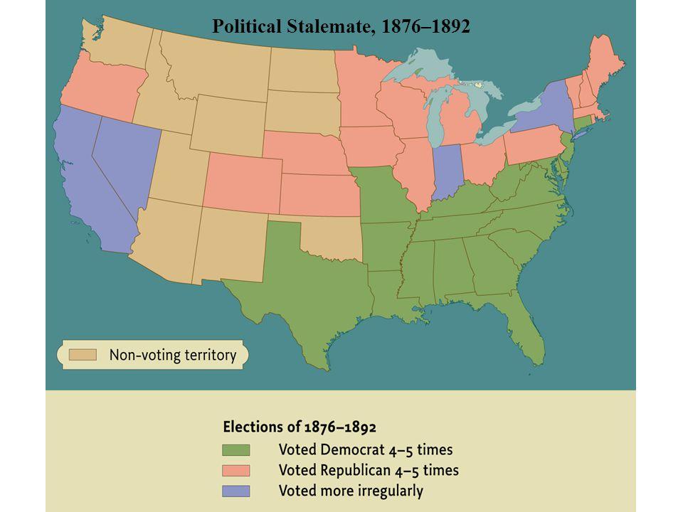 Political Stalemate, 1876–1892 pg. 616 Political Stalemate, 1876–1892
