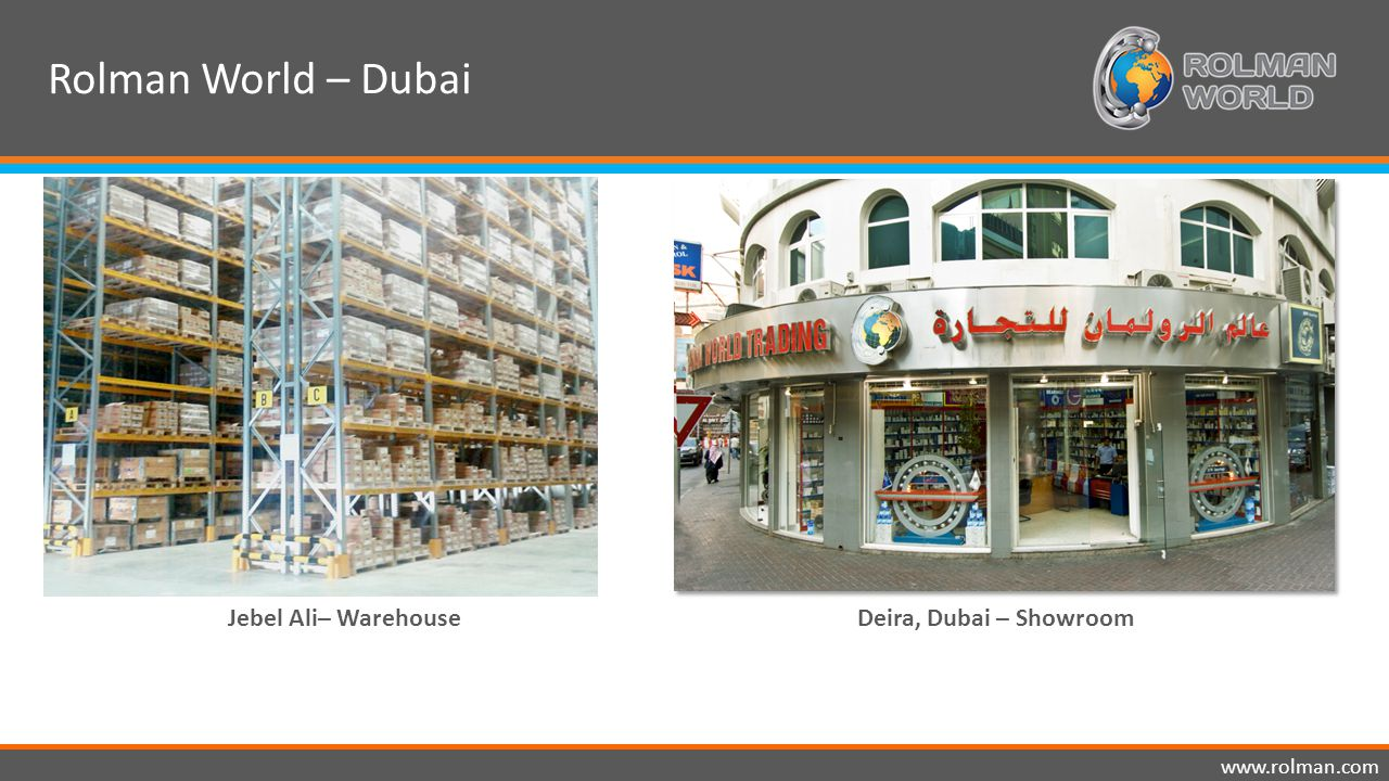 www.rolman.com Deira, Dubai – ShowroomJebel Ali– Warehouse Rolman World – Dubai