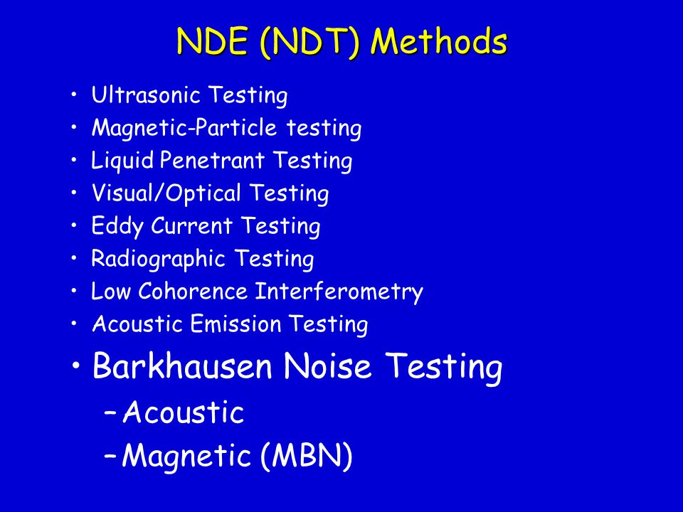 Nondestructive Evaluation using Barkhausen Noise