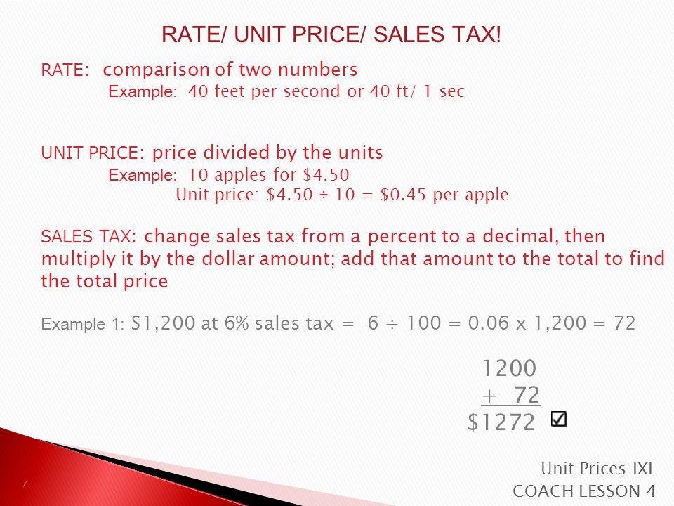 $7.99 x 3 = $23.97 $23.97 x 0.06 = $1.4382 Sales Tax = $1.44 8 Example 2: Rachel bought 3 DVDs.