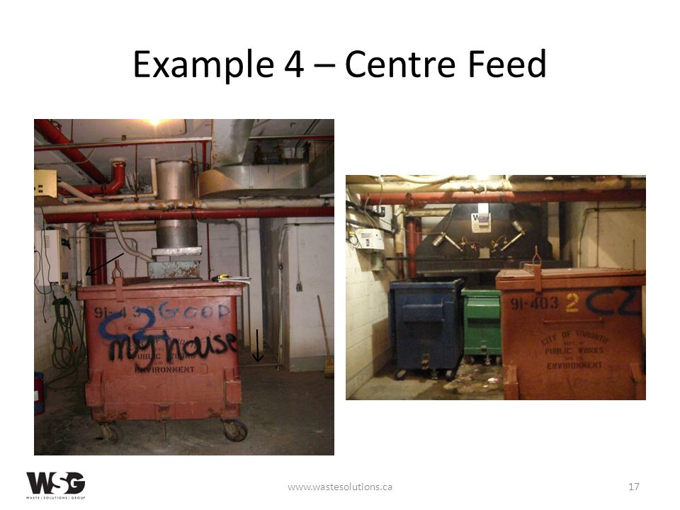 Example 4 – Centre Feed www.wastesolutions.ca17