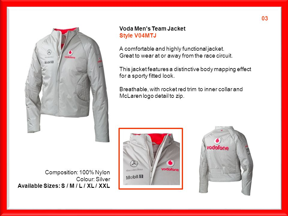 Voda Men s Team Jacket Style V04MTJ A comfortable and highly functional jacket.