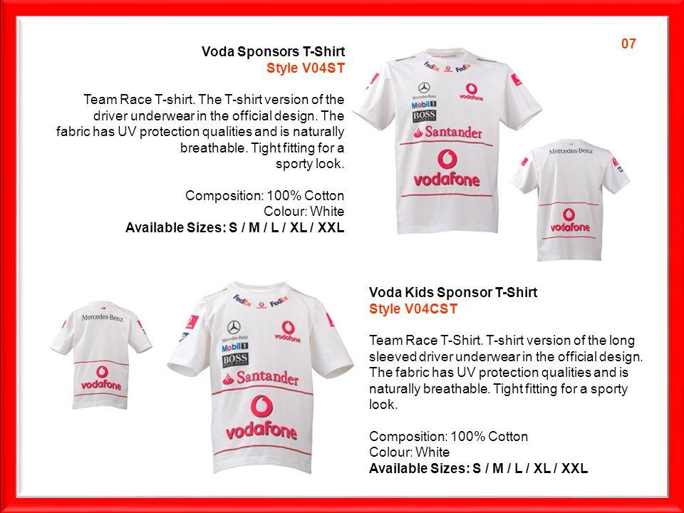 Voda Sponsors T-Shirt Style V04ST Team Race T-shirt.