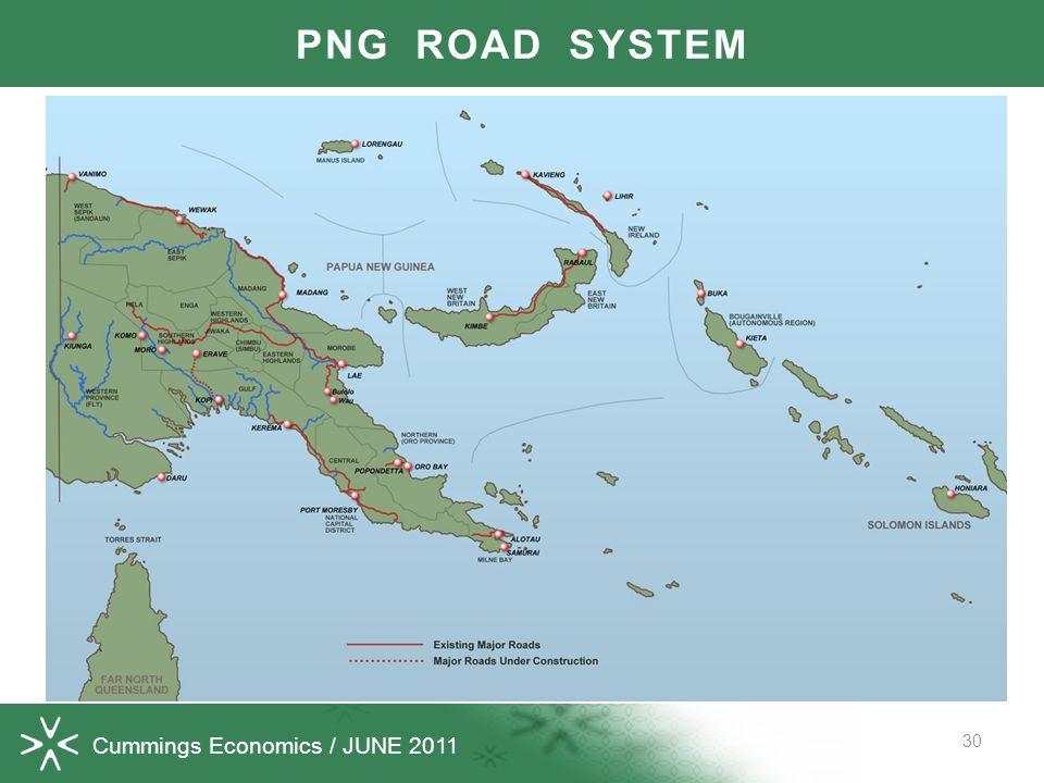 Cummings Economics / JUNE 2011 30 PNG ROAD SYSTEM