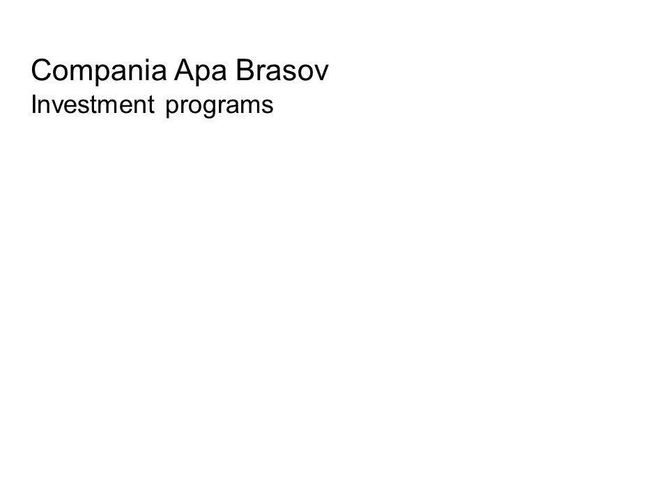 Compania Apa Brasov Investment programs