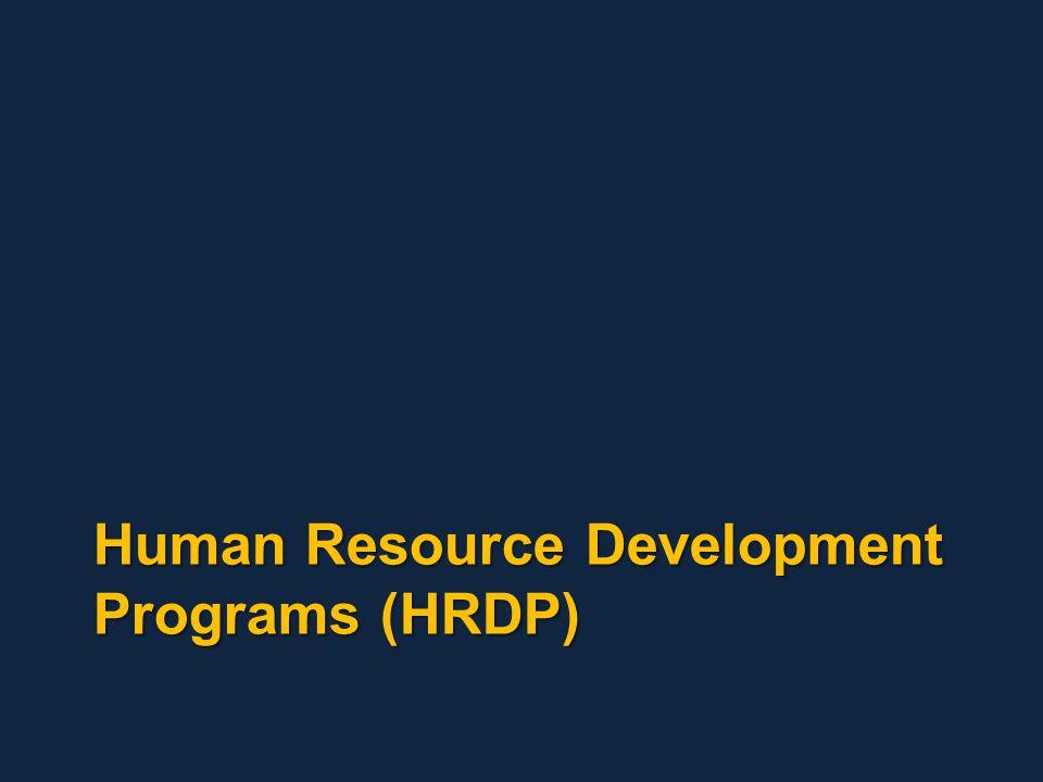 Human Resource Development Programs (HRDP)
