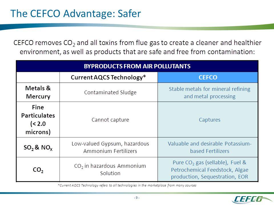 - 9 - The CEFCO Advantage: Safer