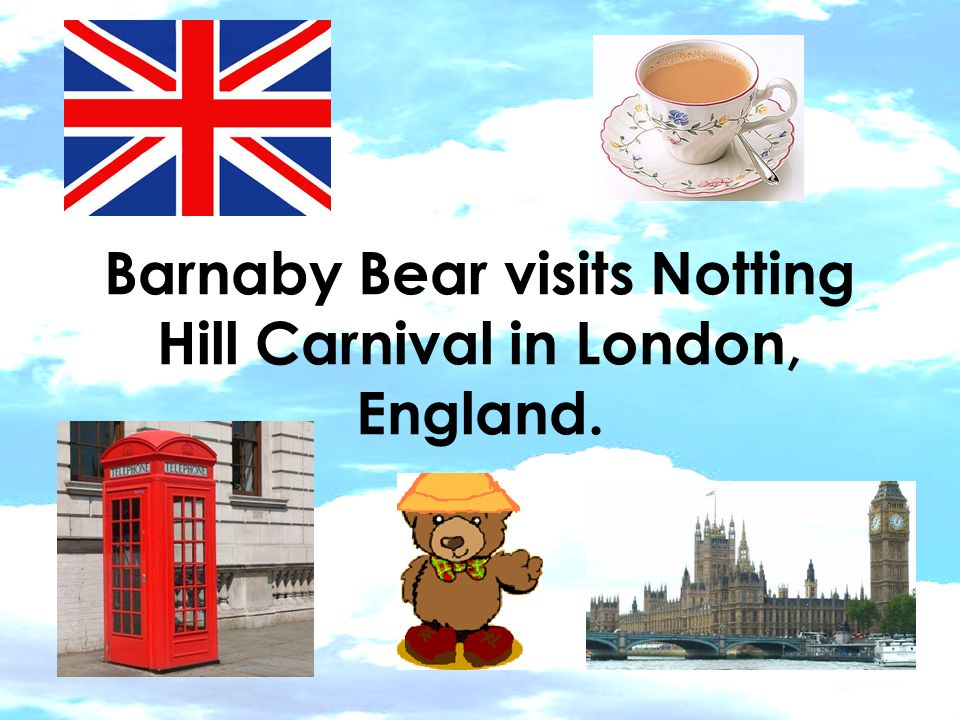 Barnaby Bear visits Notting Hill Carnival in London, England.