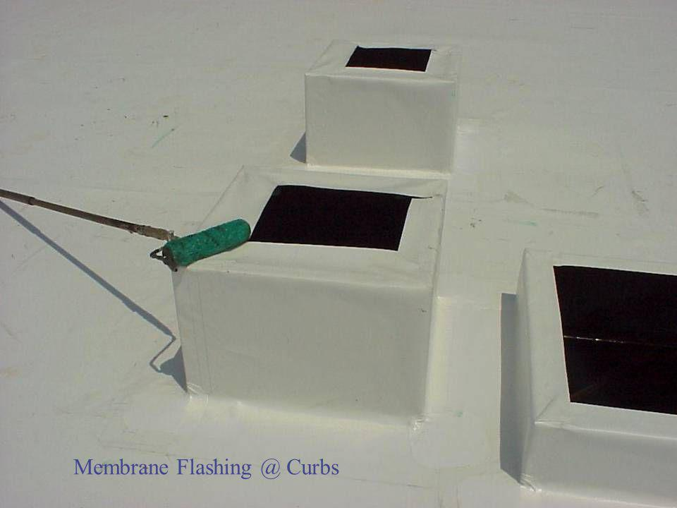Membrane Flashing @ Curbs