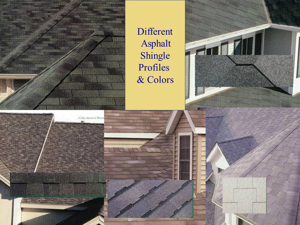 Different Asphalt Shingle Profiles & Colors
