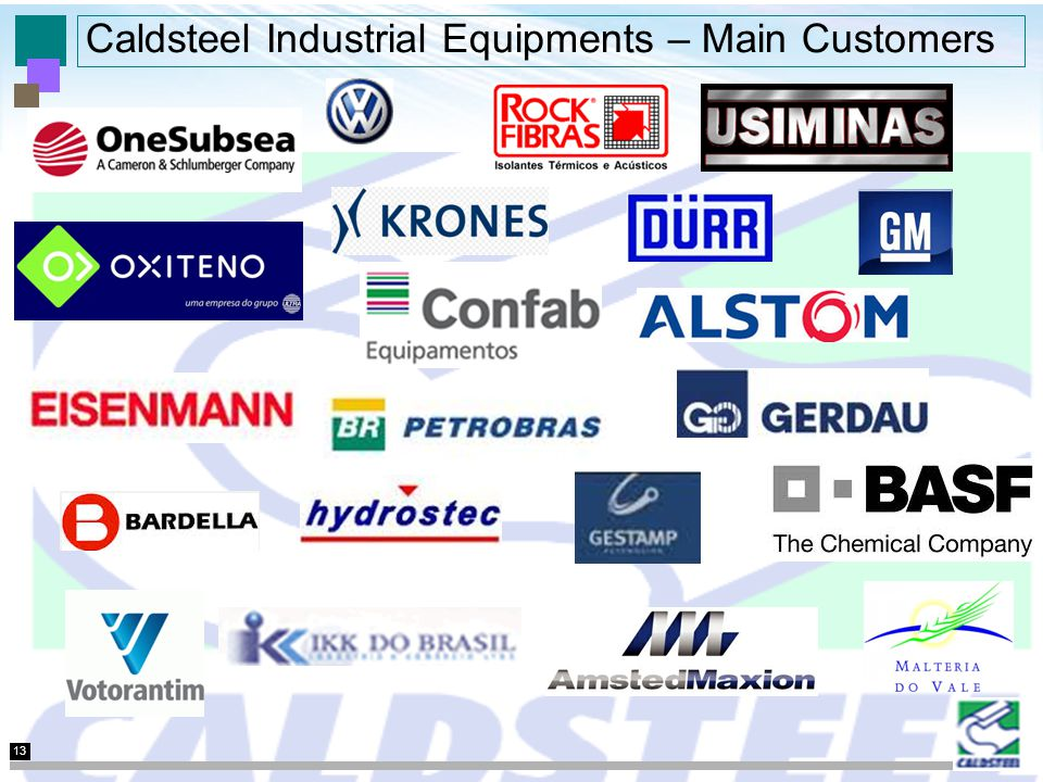 13 Caldsteel Industrial Equipments – Main Customers
