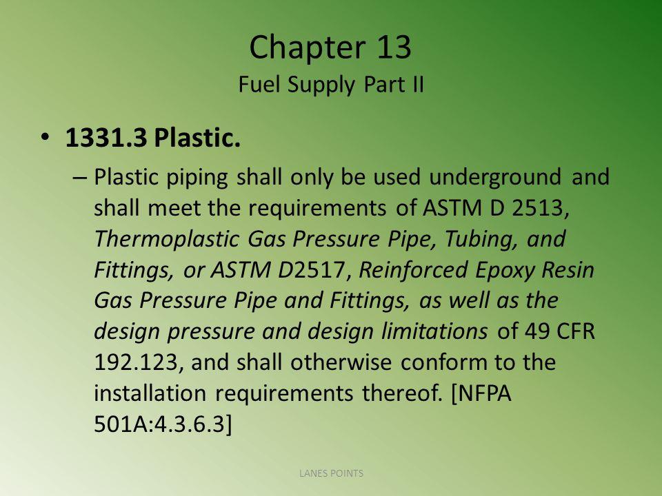 Chapter 13 Fuel Supply Part II 1331.3 Plastic.