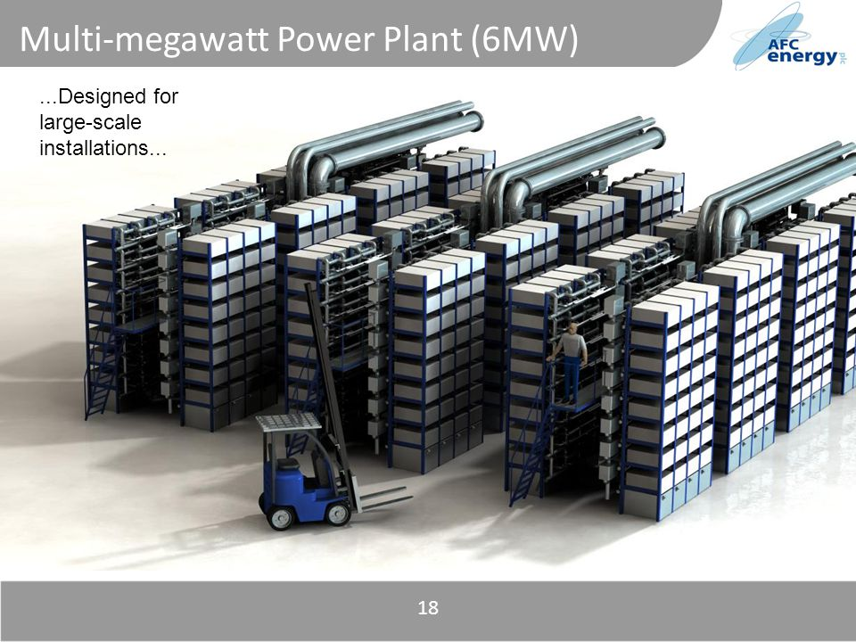 Title Multi-megawatt Power Plant (6MW) 18...Designed for large-scale installations...