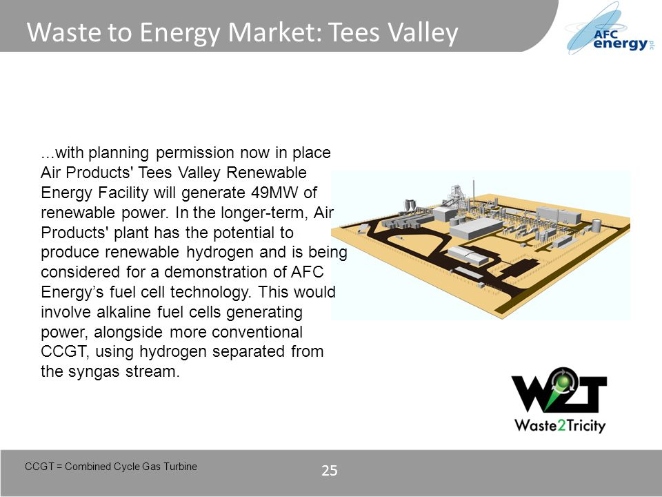 Title...with planning permission now in place Air Products' Tees Valley Renewable Energy Facility will generate 49MW of renewable power. In the longer