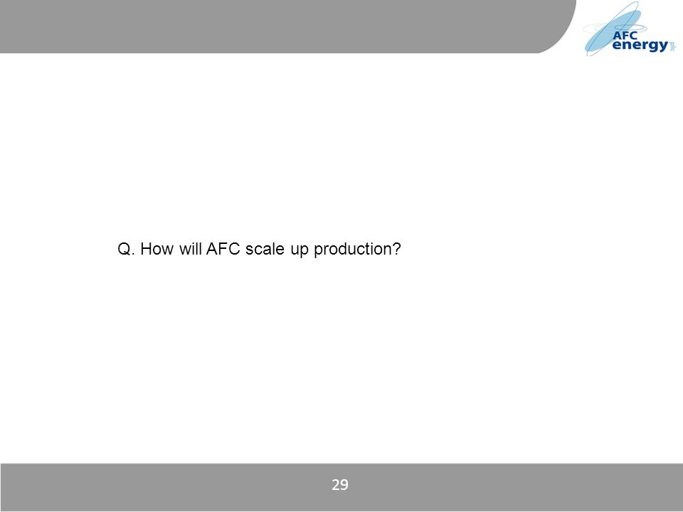 Title Q. How will AFC scale up production? 29