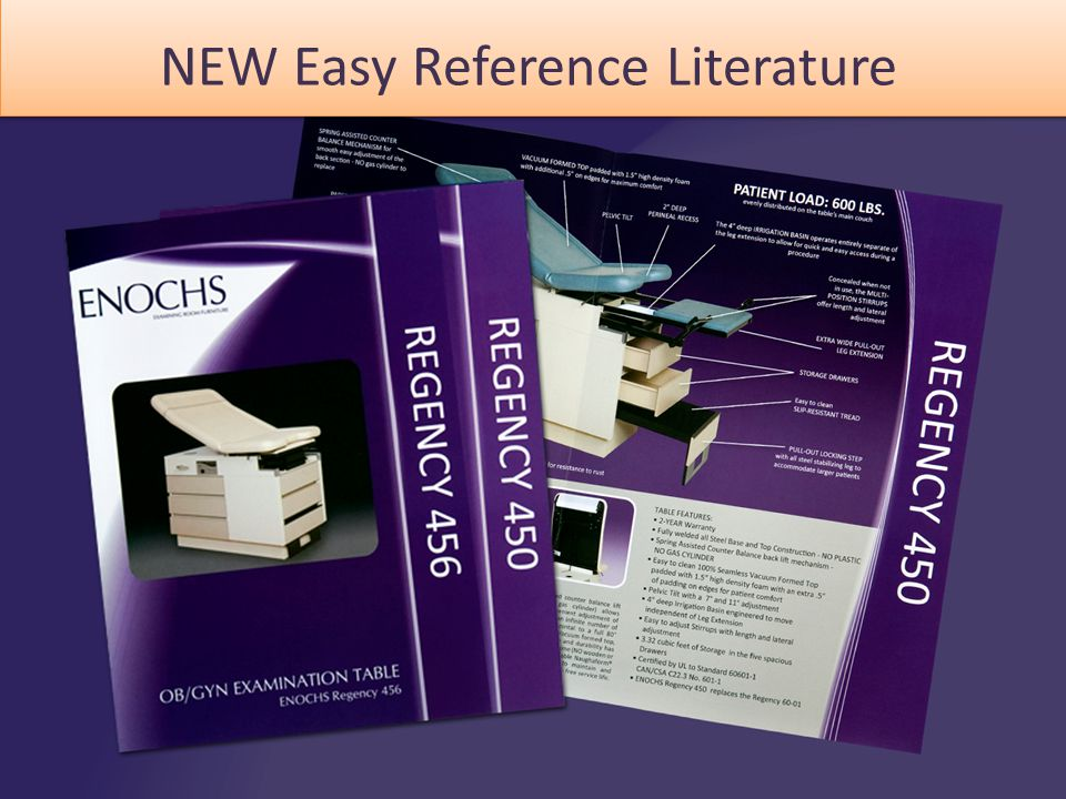 NEW Easy Reference Literature