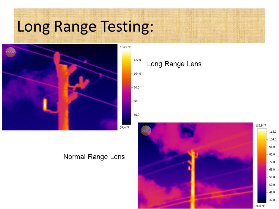 Long Range Testing: Long Range Lens Normal Range Lens