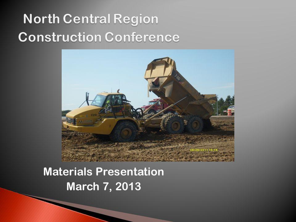 Materials Presentation March 7, 2013
