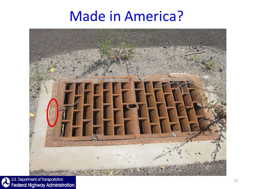 21 Made in America?