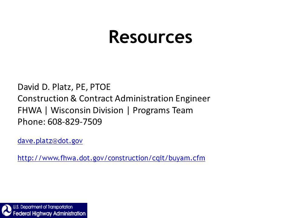 Resources David D.