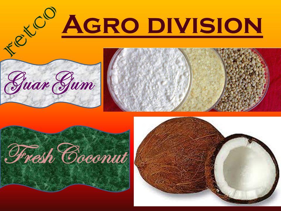 Agro division Guar Gum FreshCoconut